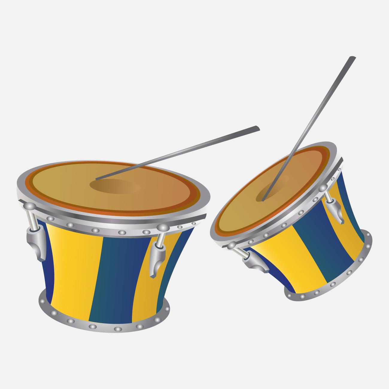 Samba-groove på trommer