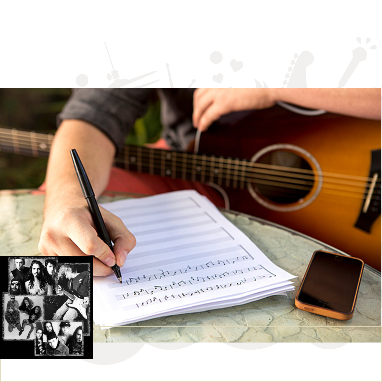 Sangskrivning/komposition/arrangement - rundt om Grunge