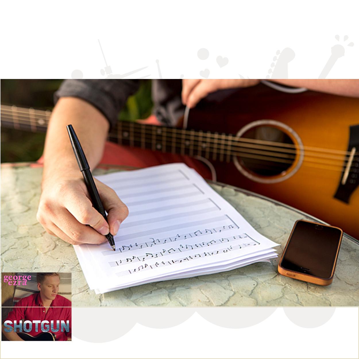Sangskrivning/komposition/arrangement - rundt om Shotgun